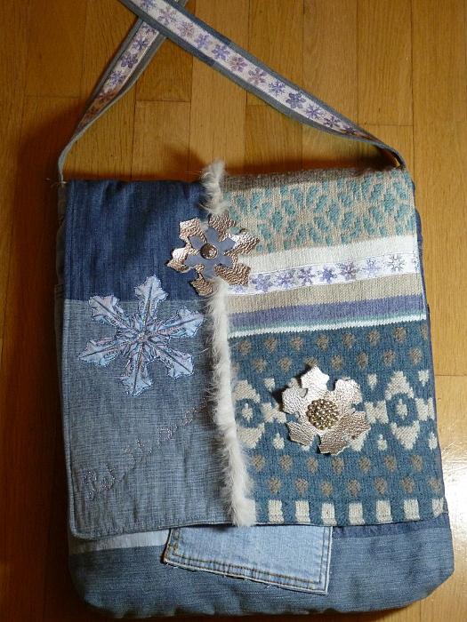 Schneeflocken für Jacke und Tasche – Snowflakes For a Jacket and aBag