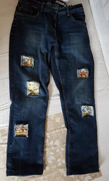 """Jeans mit bunten """"Fenstern"""" – Jeans with """"Windows"""""""