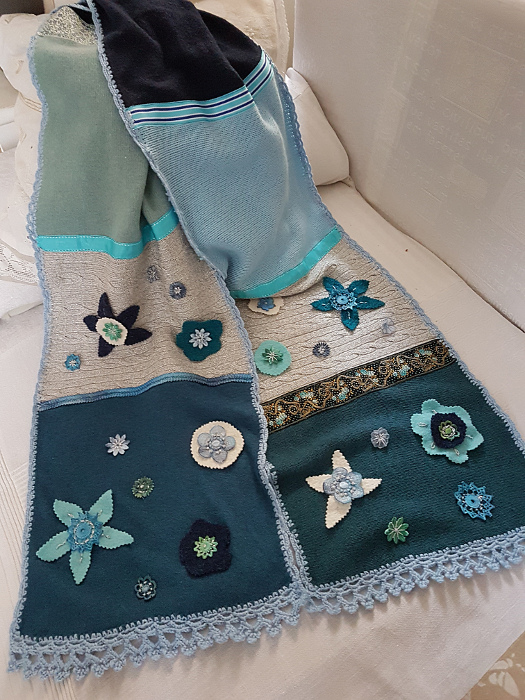 Schal aus alten Pullovern – Upcycling: Scarf from OldSweaters