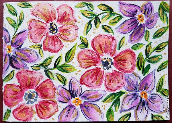 Noch mehr Blütenkarten – More FlowerPostcards