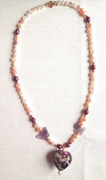 Lampwork bead necklace4
