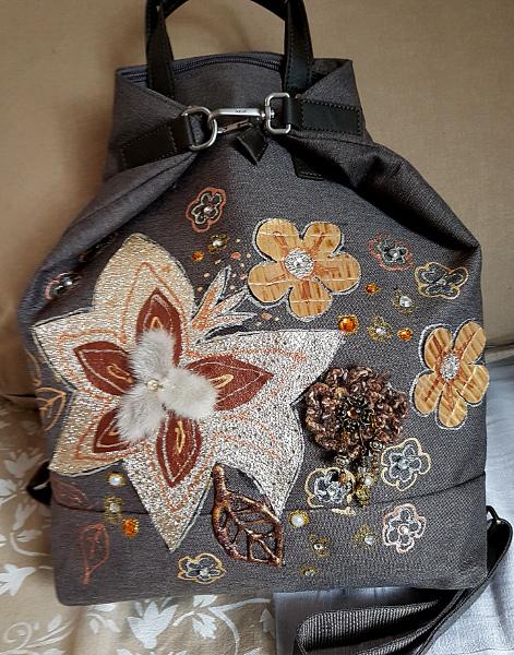 Verzierte Rucksack-Tasche – No-Sew Embellishment For ABag