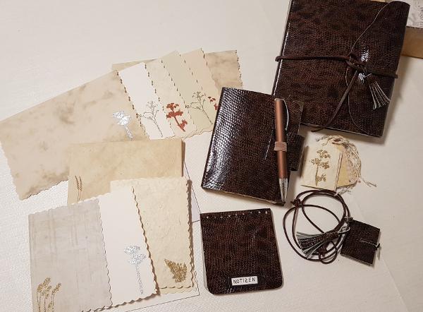 Ein edles Schreibset, handgemacht – A Classy Handmade StationarySet