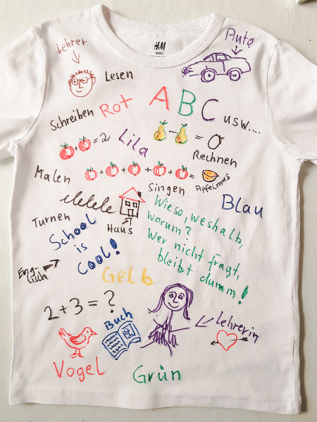 Ein T-Shirt zur Einschulung – A Tee For the First Day in School