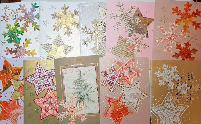 Weihnachtskarten, handgemacht – Handmade ChristmasCards