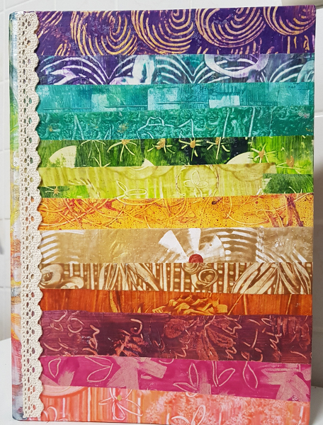 Kleisterpapier Regenbogen – Paste Paper Rainbows