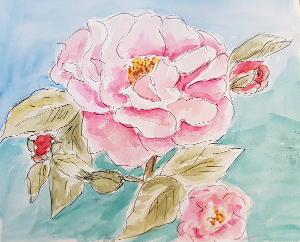 Rose in Pastell – A Pastel Rose