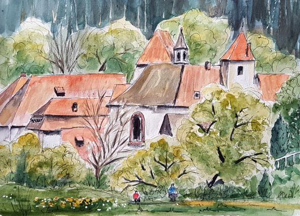 Ein Wochenende zum Malen, Teil2 – A Weekend Dedicated to Painting,Part2