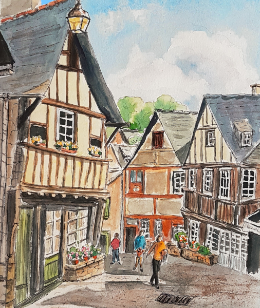 In der Altstadt von Dinan – The Old Town of Dinan