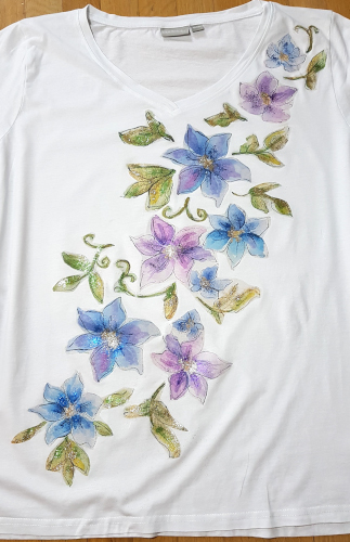 Aquarellblumen für ein T-Shirt – Watercolour Flowers For a T-Shirt