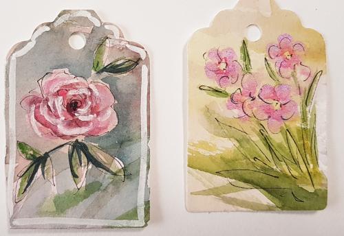 Geschenkanhänger aus bemaltem Aquarellkarton – Watercolour GiftTags