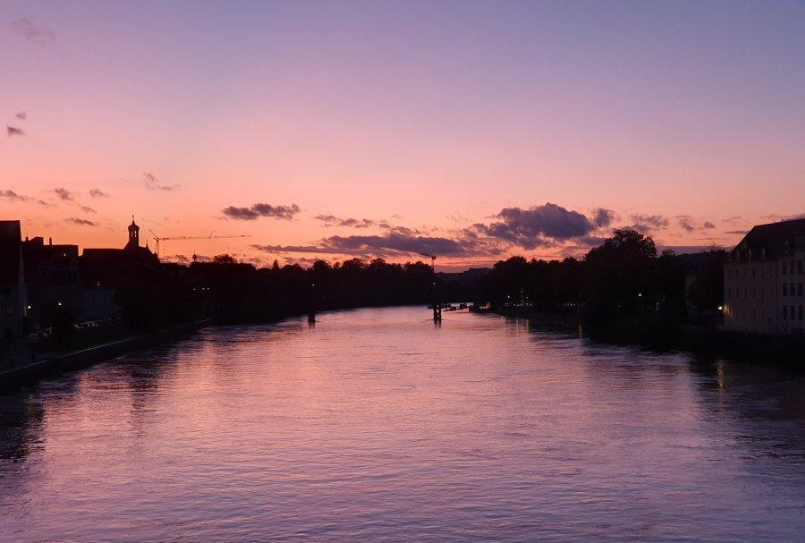 Abendstimmung in Regensburg – Sunset inRegensburg