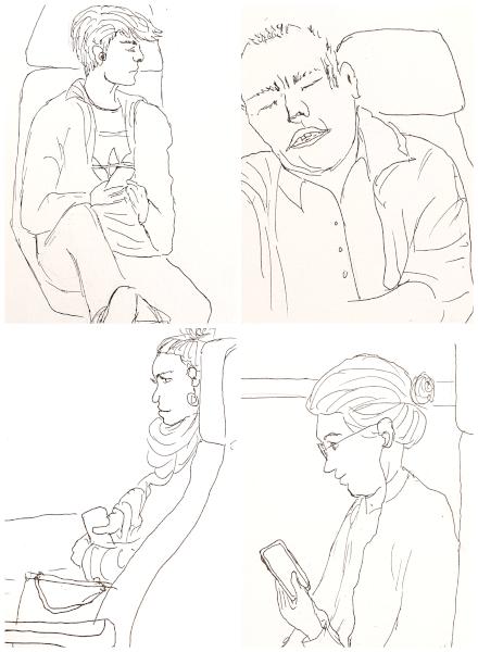 Leute im Zug – People in theTrain