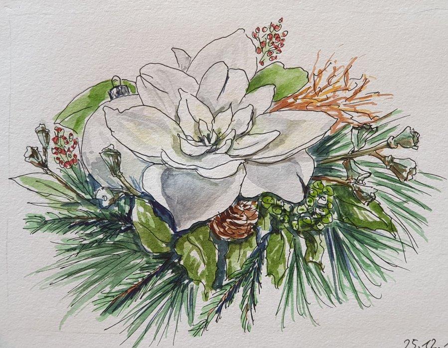 Ein weihnachtlicher Strauss – A Christmas FlowerDecoration