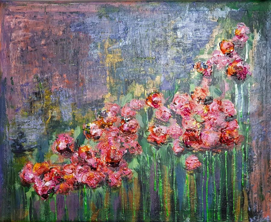 Acryl: Rosengarten – Acrylic Painting: RoseGarden