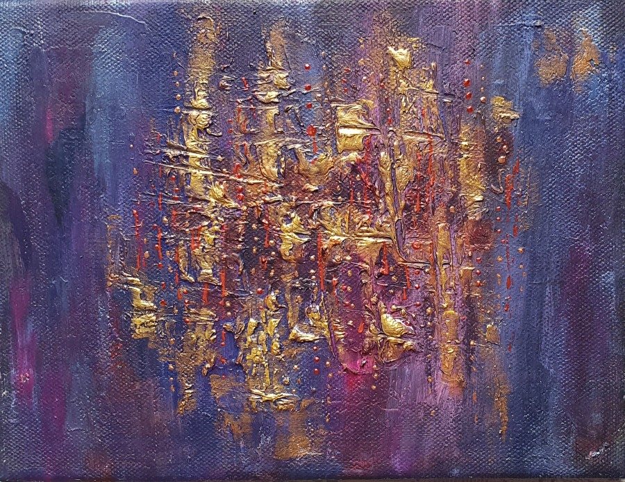 Abstraktes Acrylbild – Abstract Acrylic Painting