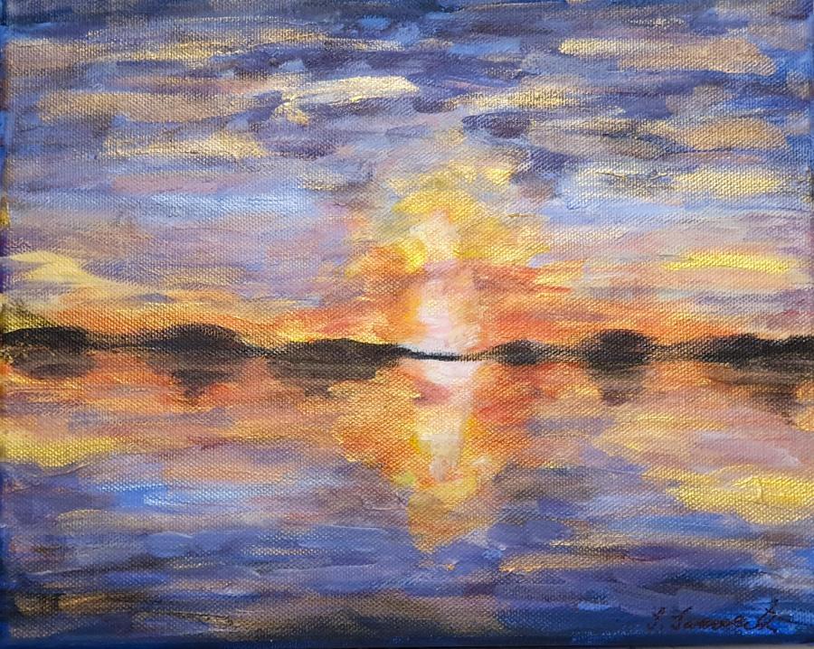 Sonnenuntergang in Acryl – AcrylicSunset