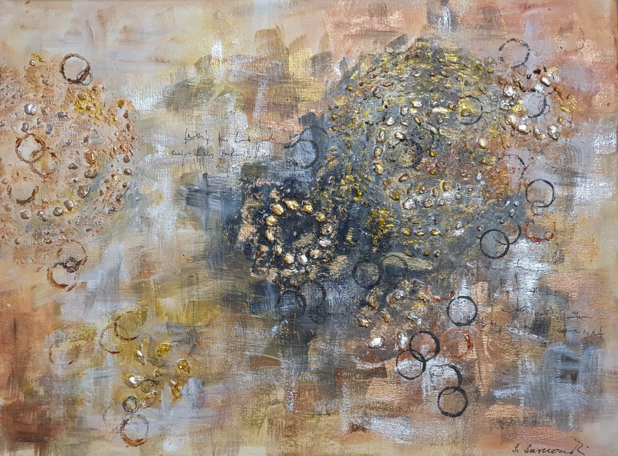 "Acryl abstrakt: ""Palimpsest"" – Abstract Acrylics: ""Palimpsest"""