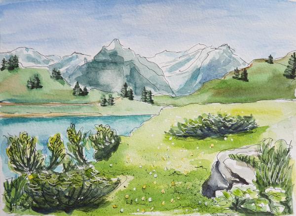 Landschaftsbilder zum Üben – Some Landscapes forPractice