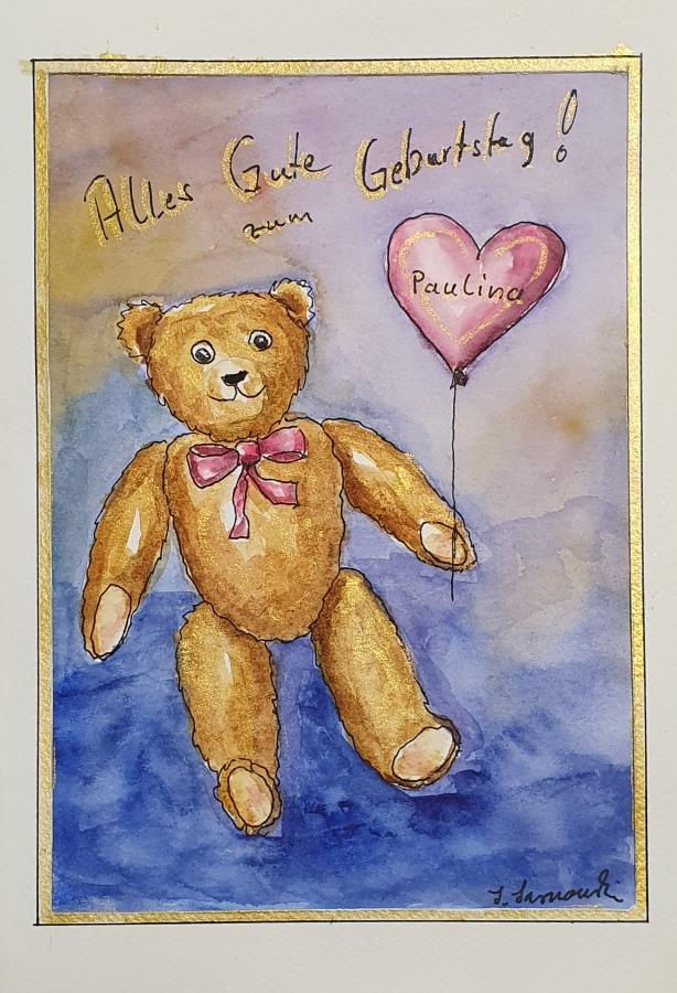 Geburtstagskarte für eine kleine Maus – Birthday Card for a LittleGirl