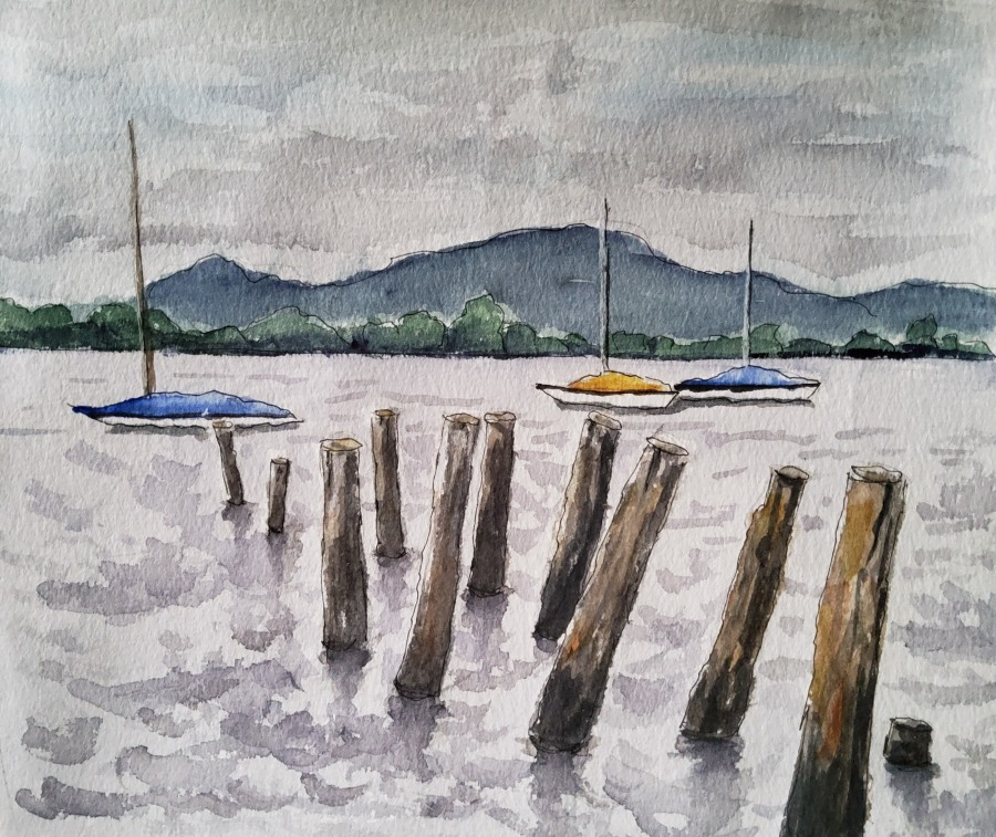 Trüber Tag am Ammersee – Rainy Day on LakeAmmersee