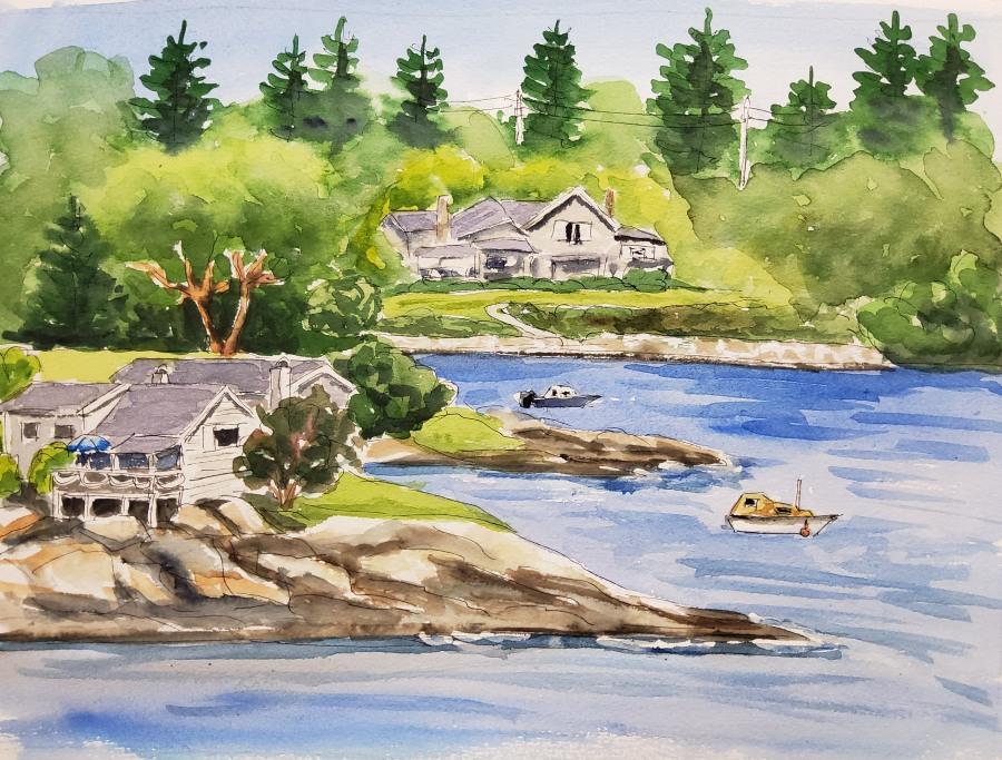 Häuser auf Vanvcouver Island – Houses on VancouverIsland